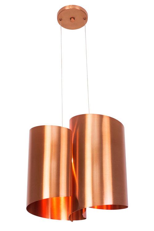 Luminária Calandra prata, cobre e ouro – Munclair 2008